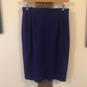 Vintage Purple Nubby Silk Pencil Skirt